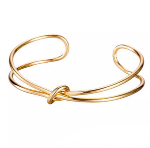 """Tie the knot"" bangle - 18k gold plated - dumiyah"