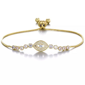 Evil Eye 18k gold plated bracelet