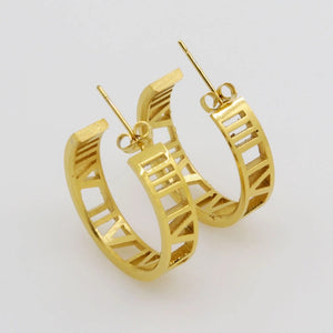 """Roman"" Hoop Earrings - dumiyah"