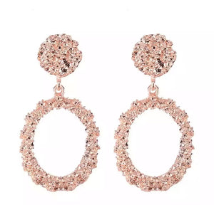 Stella - Oval Statement Earrings
