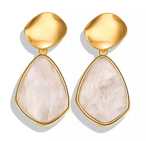 """Zara"" Precious Stone Earrings"