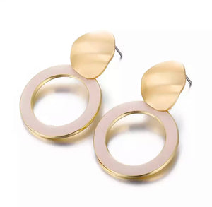 "Halo ""Zara"" Precious Stone Earrings"