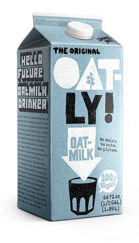 Image of 32oz Oatly Original Chilled Oatmilk. No dairy. No nuts. No gluten.