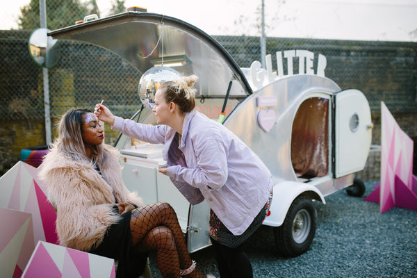 wedding glitter bus for hire