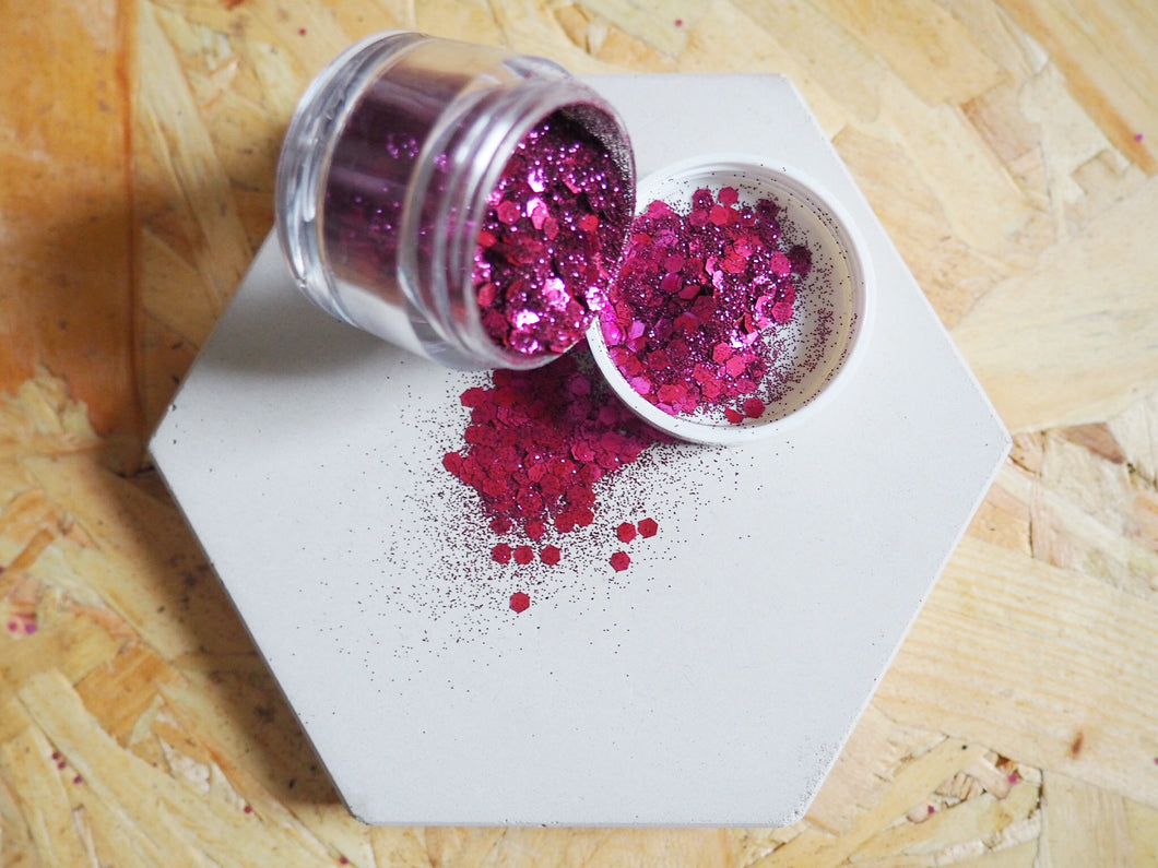 Biodegradable Mixed Berry Cosmetic Face Glitter
