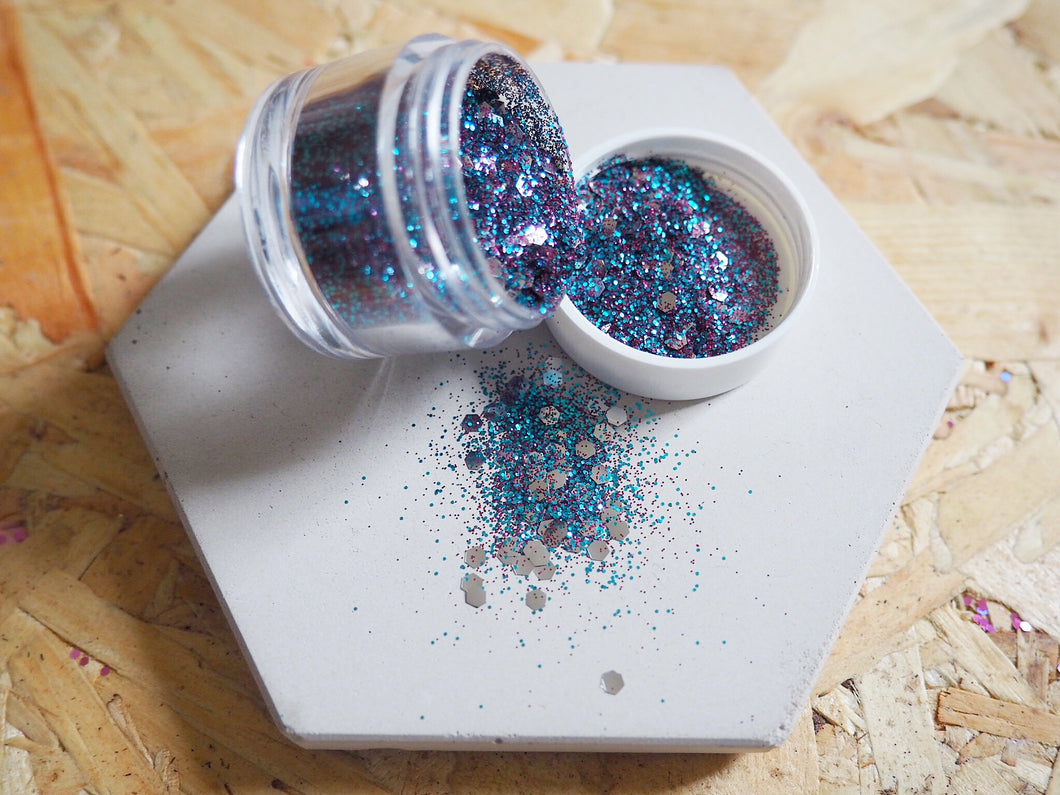 Biodegradable Mixed Blueberry Cosmetic Face Glitter