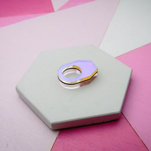 Hexagon Chunky Ring