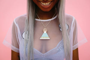 Egyptian Pyramid Acrylic Necklace