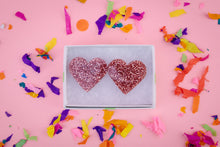 Acrylic Glitter Heart Earrings