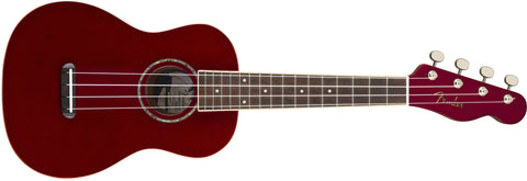 Fender Zuma Concert Candy Apple Red Ukulele