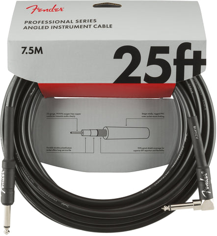 Fender PROFESSIONAL SERIES INSTRUMENT CABLE - 25ft