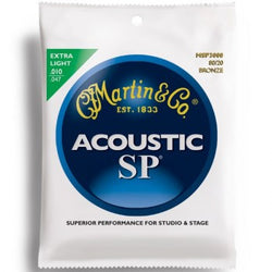 Martin MSP3000 .010 Gauge Acoustic Guitar Strings