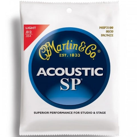 Martin MSP3100 .012 Gauge Acoustic Guitar Strings