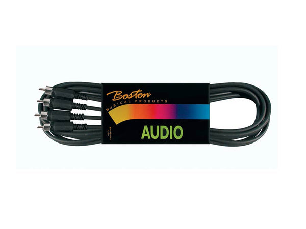 Boston Audio Cable, Black, 2x Rca - 2x Rca Connector, 3.00 Meter