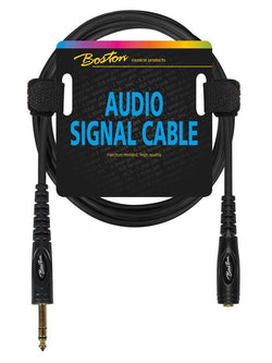 Boston Audio Signal Cable, 6.3mm Female Jack Stereo To 6.3mm Jack Stereo, 3.00 Meter