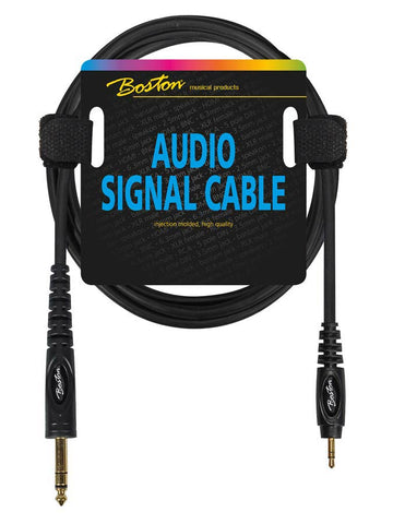 Boston Audio Signal Cable, 3.5mm Jack Stereo to 6.3mm Jack Stereo, 3.00 meter