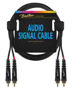 Boston Audio Signal Cable, 2x RCA to 2x RCA, 3.00 meter