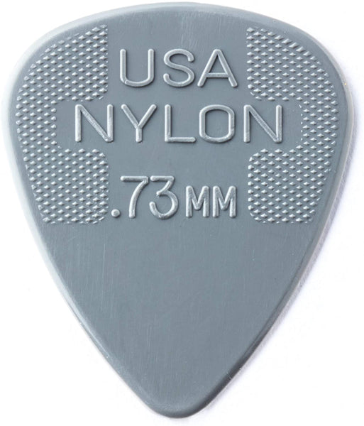 Dunlop 0.73mm Nylon Standard Pick, Light Grey