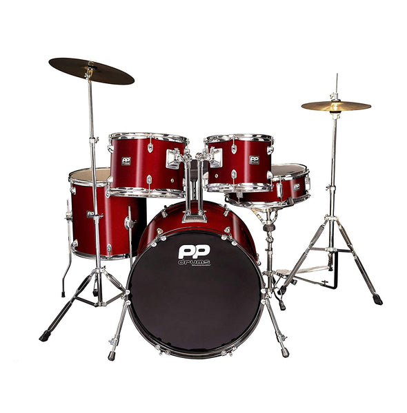 PP DRUMS 5PC FUSION DRUM KIT - WINE RED