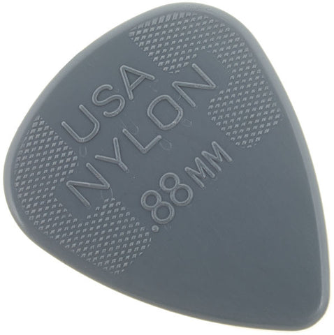 Dunlop 0.88mm Nylon Standard Pick, Light Grey