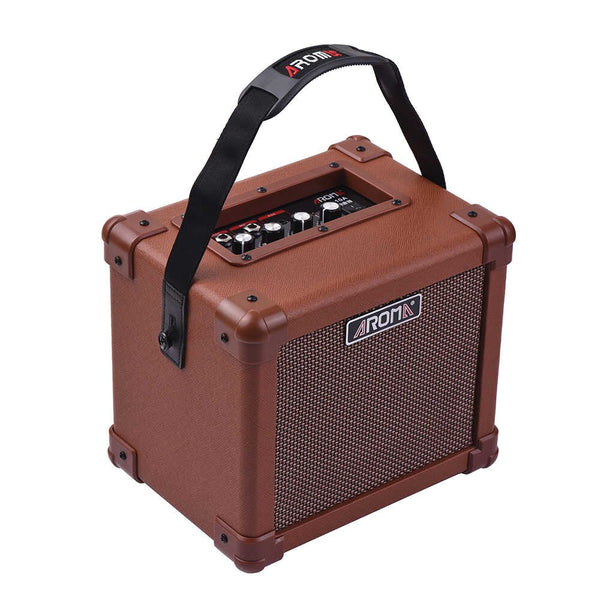 Aroma 10w Acoustic Guitar Amp AG10A Brown