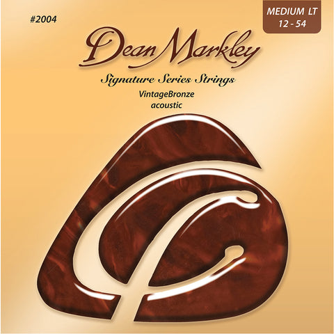 Dean Markley Vintage Bronze Medium Light 12-54 Acoustic Strings Set
