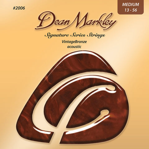 Dean Markley Vintage Bronze Medium 13-56 Acoustic Strings Set