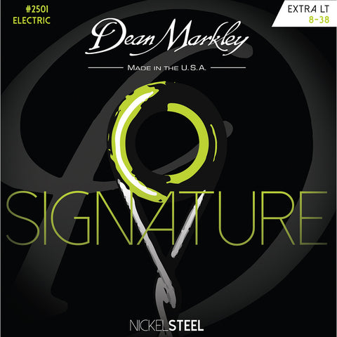 Dean Markley Extra Light 8-38 NickelSteel Electric Signature Series String Set