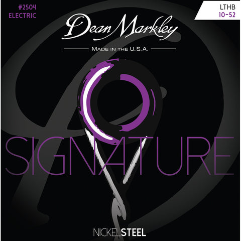 Dean Markley Light Top Heavy Bottom 10-52 NickelSteel Electric Signature Series String Set