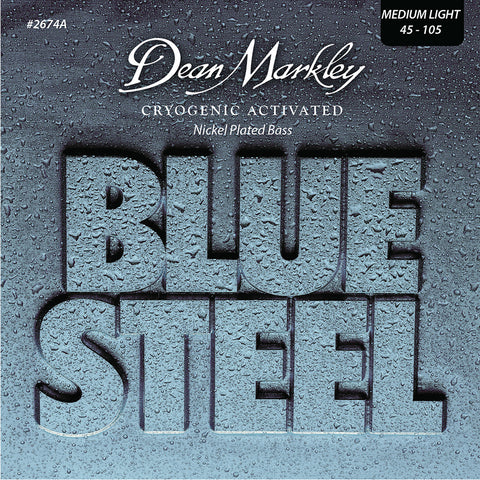 Dean Markley Blue Steel NPS Bass Guitar Strings Medium Light 4 String 45-105