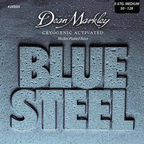 Dean Markley Blue Steel NPS Bass Guitar Strings Medium 5 String 50-128