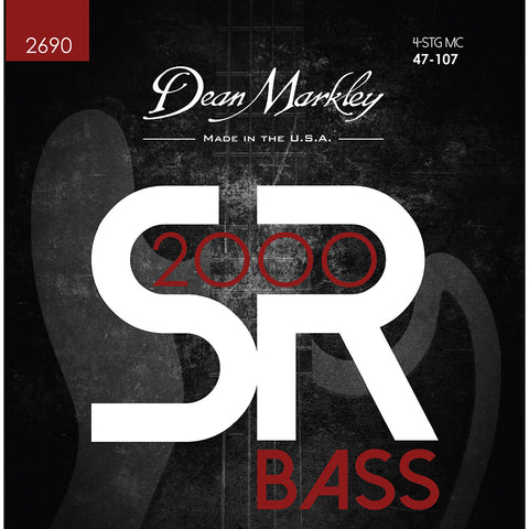 Dean Markley SR2000 High Performance Bass Guitar Strings Medium Custom 4 String 47-107