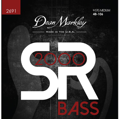 Dean Markley SR2000 High Performance Bass Guitar Strings Medium 4 String 48-106