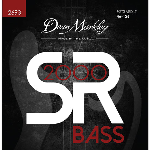 Dean Markley SR2000 High Performance Bass Guitar Strings Medium Light 5 String 46-125