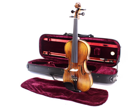 Natural Violin Outfit - Violin with case, bow and Rosin HDV41 4/4