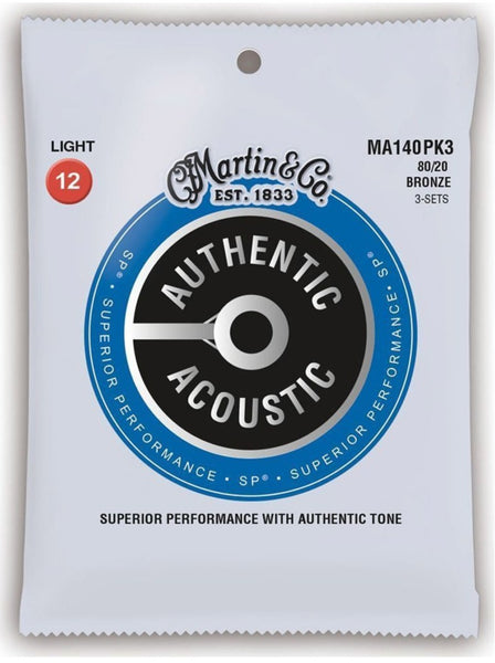 Martin MA140 .012 Gauge Acoustic Guitar Strings