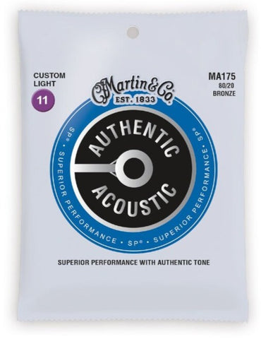 Martin Custom Light MA175 Acoustic Guitar Strings