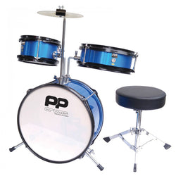PP DRUMS JUNIOR 3 PIECE DRUM KIT - METALLIC BLUE