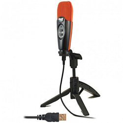 CAD USB CARDIOID CONDENSER STUDIO RECORDING MICROPHONE - ORANGE & BLACK