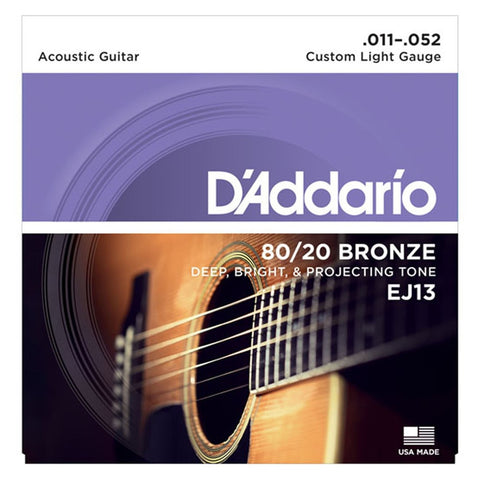 Daddario EJ13 . 011 Gauge Acoustic Guitar Strings