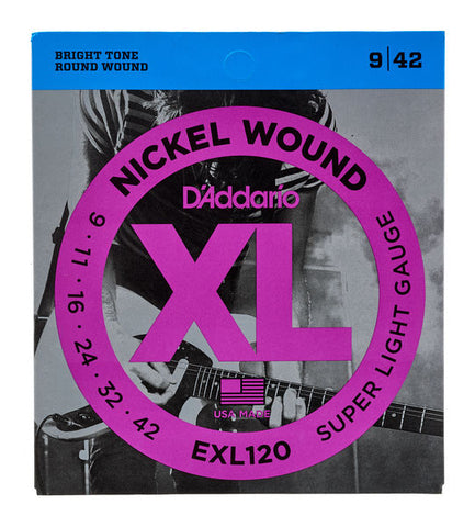 Daddario EXL120 .009 Gauge Electric Guitar Strings