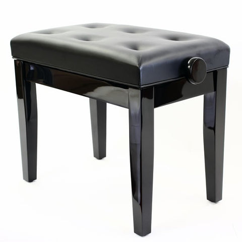 Steinhoven PRIMA Adjustable Piano Stool, Polished Ebony