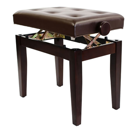 Steinhoven PRIMA Adjustable Piano Stool, Satin Rosewood