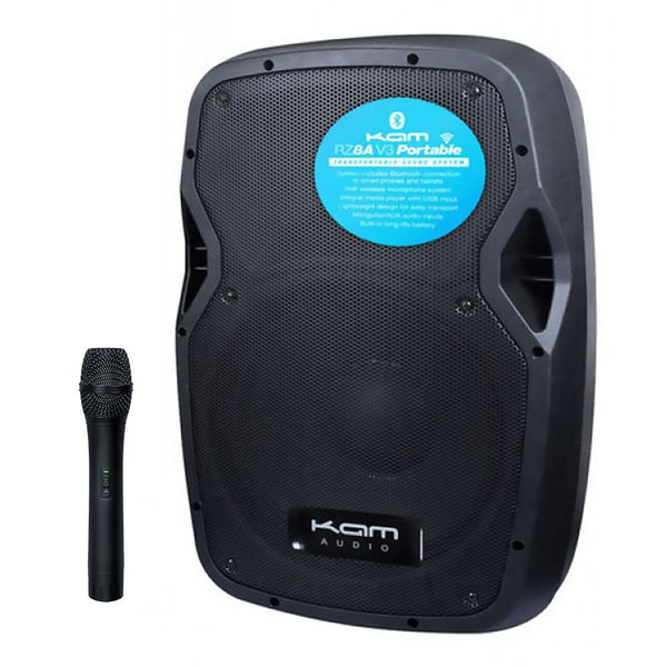 "KAM 8"" ACTIVE SPEAKER WITH BLUTOOTH AND WIRELESS MIC"
