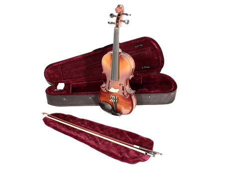 Natural Violin Outfit - Violin with case, bow and Rosin HDV11 1/2