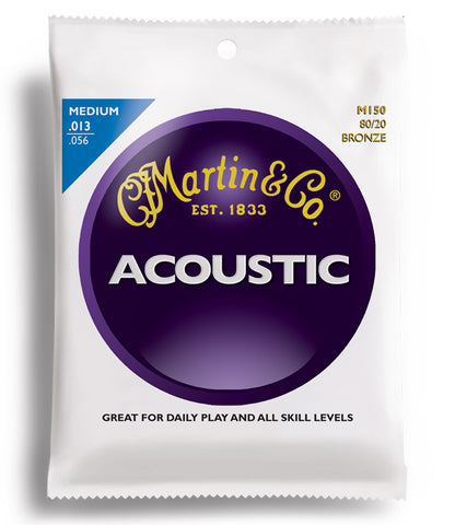 Martin M150 .13 Gauge Acoustic Guitar Strings (Pack Of 3)