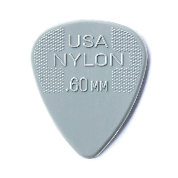Dunlop 0.60mm Nylon Standard Pick, Light Grey