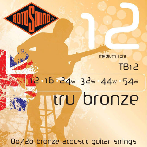 Rotosound TB12 .012 Gauge Acoustic Guitar Strings