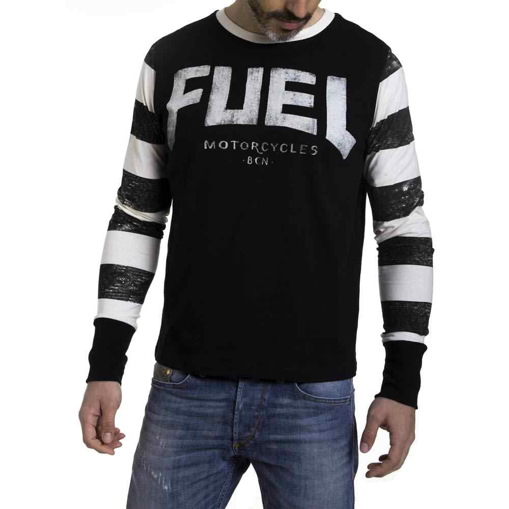 f78865a2 Fuel Motorcycles Stripes Long Sleeved T-Shirt - The Royal Tunbridge ...