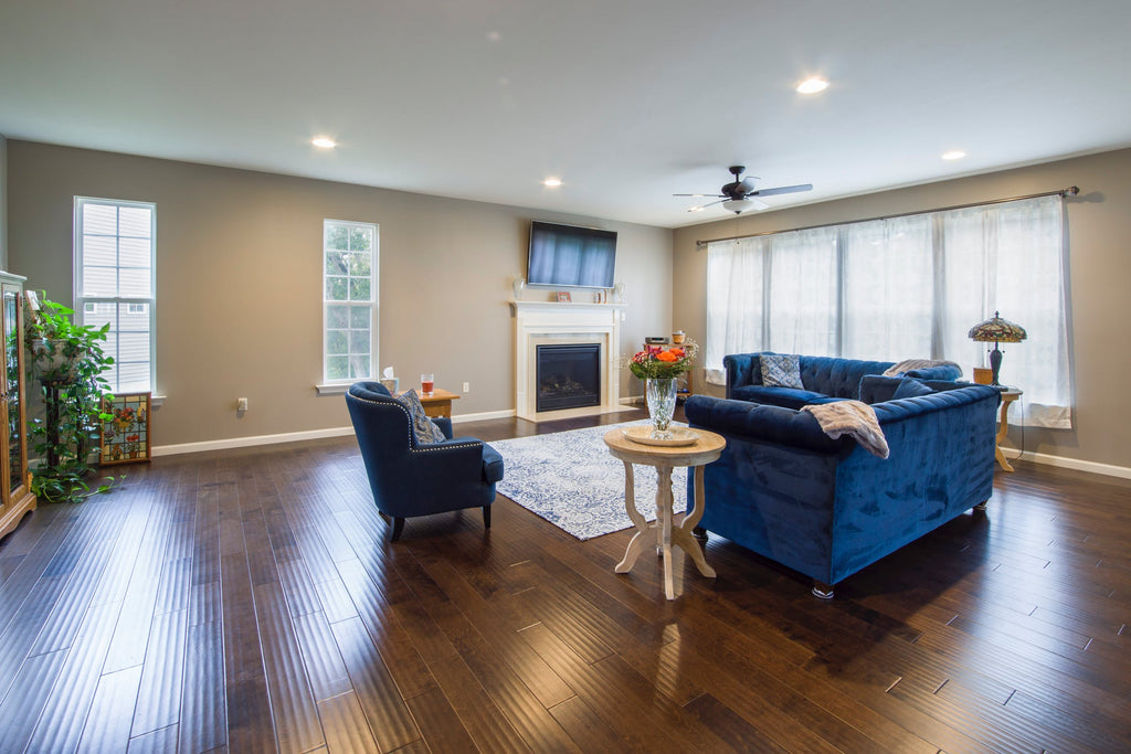 solid oak wood floor in living room